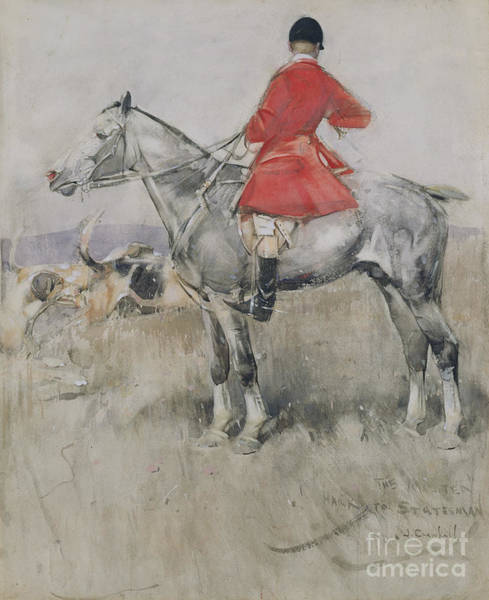 Huntsmen Wall Art - Painting - Hark To Statesman by Joseph Crawhall