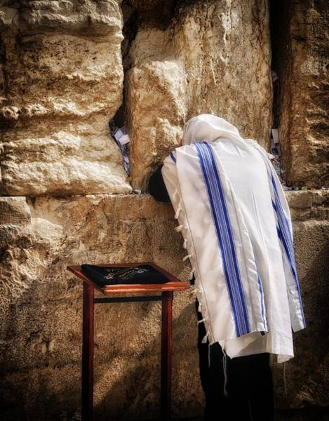Holy Land Photograph - Harken Unto My Prayer O Lord Western Wall Jerusalem by Mark Fuller