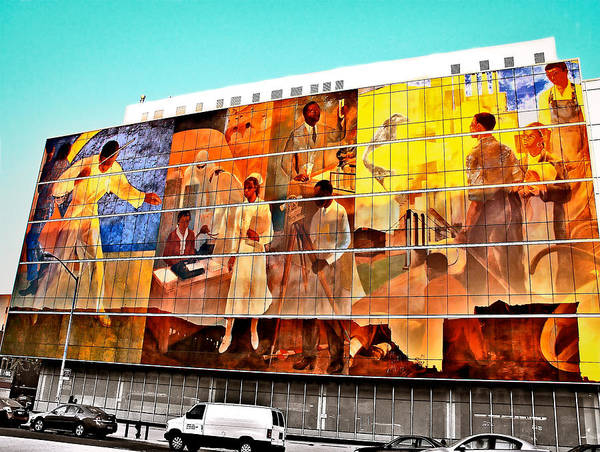 American Car Mixed Media - Harlem Hospital Mural by Terry Wallace