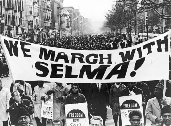 Wall Art - Photograph - Harlem Supports Selma by Stanley Wolfson