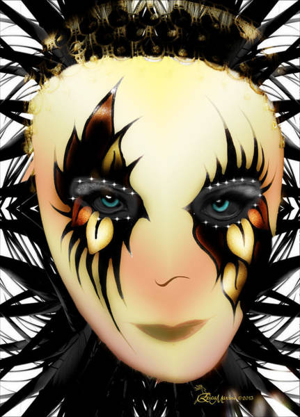 Digital Art - Harlequin Face Mask by Ericamaxine Price