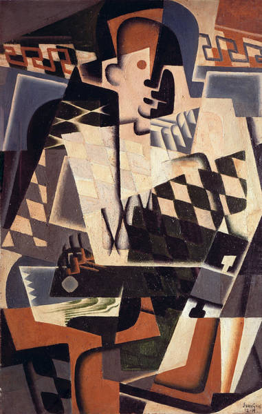 Wall Art - Painting - Harlequin With A Guitar, 1917 by Juan Gris