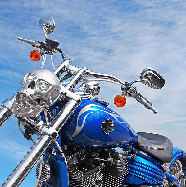 Photograph - Harley Blues by Gill Billington