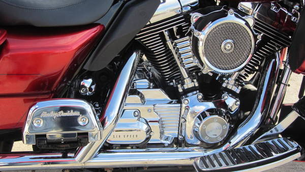 Photograph - Harley Close-up Red 1 by Anita Burgermeister