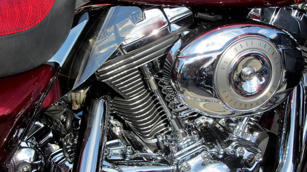 Photograph - Harley Close-up Red 2 by Anita Burgermeister