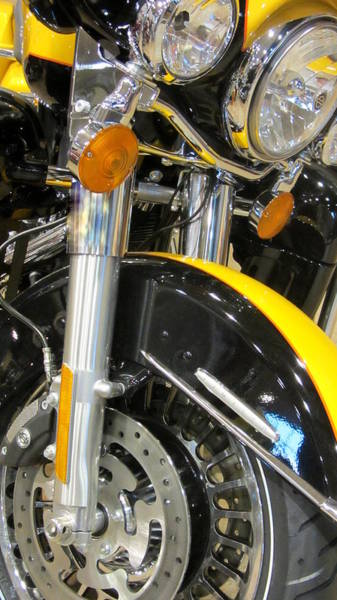 Photograph - Harley Close-up Yellow 1 by Anita Burgermeister