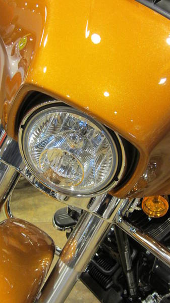 Photograph - Harley Close-up Yellow 2 by Anita Burgermeister