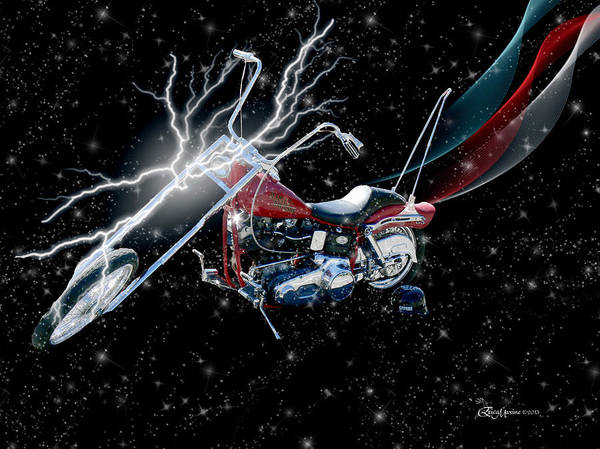 Photograph - Harley Cycle Red White And Blue by Ericamaxine Price