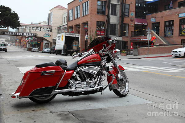 Photograph - Harley Davidson At Monterey Cannery Row California 5d24765 by Wingsdomain Art and Photography