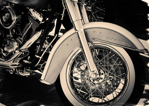 Photograph - Harley Davidson Deluxe Canvas Print, Photographic Print, Art Print, Framed Print, Iphone Case, by David Millenheft
