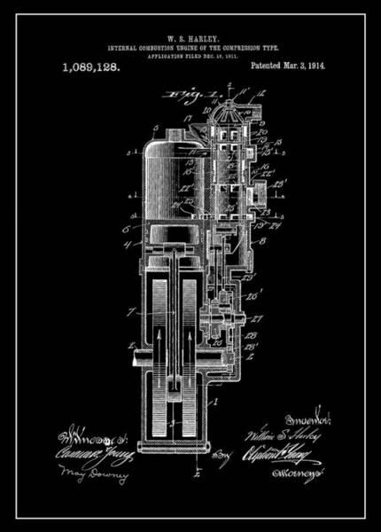 Hard Rock Mixed Media - Harley Davidson Internal Combustion Engine by Dan Sproul
