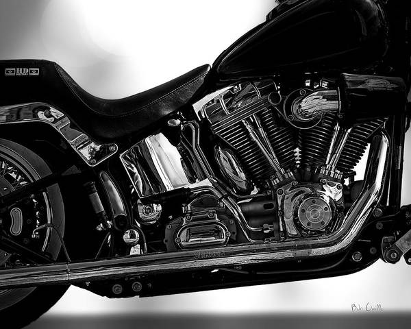 Harley Davidson Black And White Wall Art - Photograph - Harley Davidson  Military  by Bob Orsillo