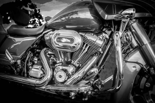 Photograph - Harley Davidson Motorcycle Harley Bike Bw  by Rich Franco