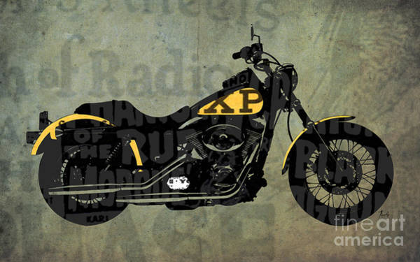 Garage Decor Mixed Media - Norton Commando On The News, Husbands Gift by Drawspots Illustrations