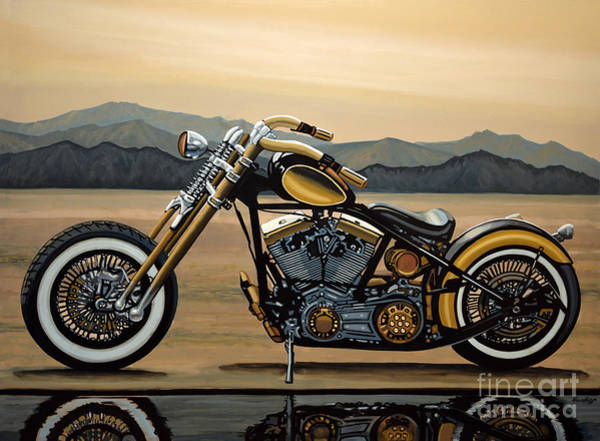 Wisconsin Wall Art - Painting - Harley Davidson by Paul Meijering