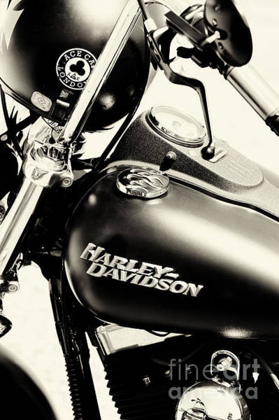 Harley Davidson Black And White Wall Art - Photograph - Harley Davidson Sepia by Tim Gainey
