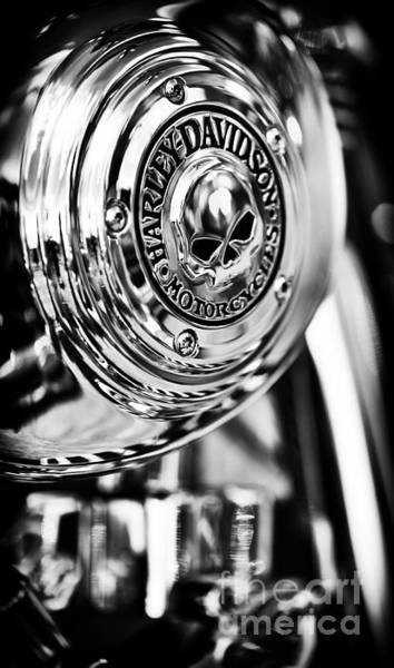 Engine Wall Art - Photograph - Harley Davidson Skull Casing by Tim Gainey