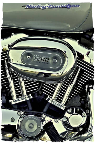 Photograph - Harley Davidson Sportster 1200 II by David Patterson