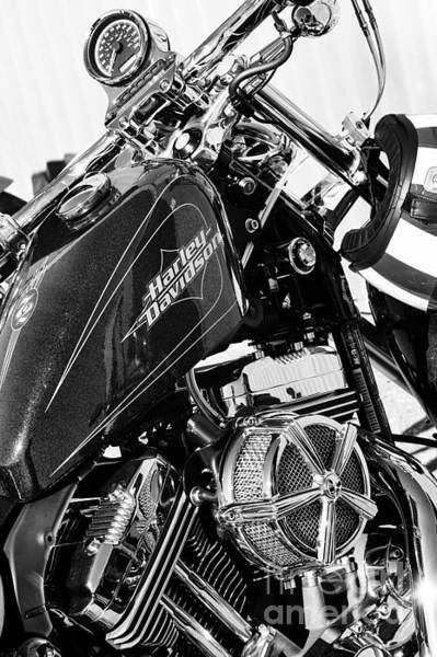 Chrome Engine Photograph - Harley Davidson Sportster by Tim Gainey