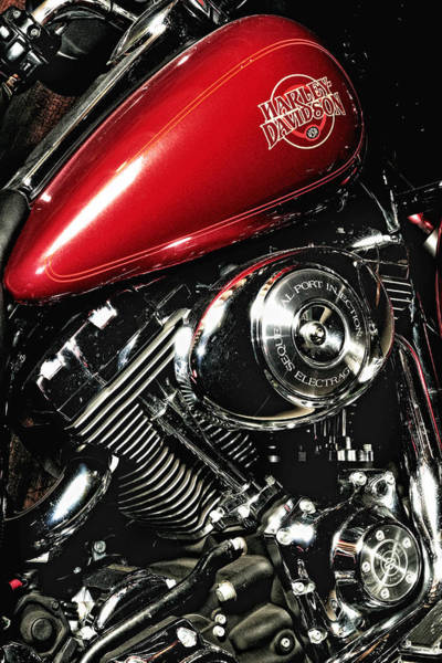 Harley Electra-glide Art Print