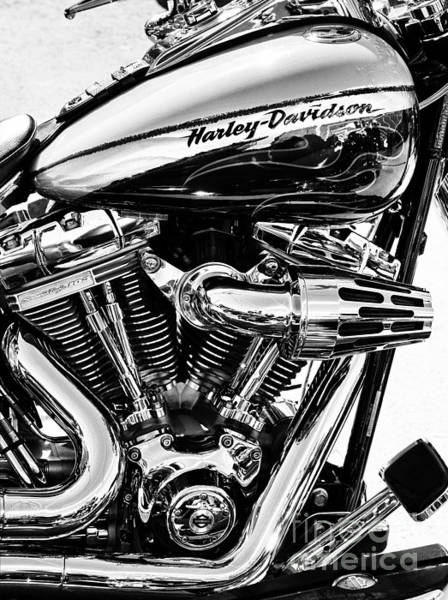 Harley Davidson Black And White Wall Art - Photograph - Harley Monochrome by Tim Gainey