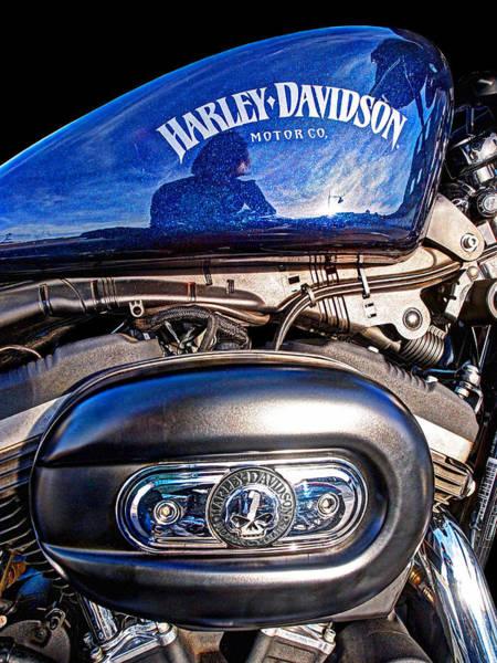 Photograph - Harley Night Vision by Gill Billington