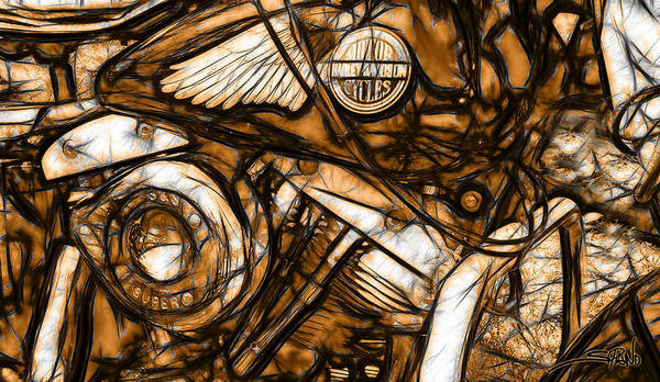 Painting - Harley Shovelhead by Michael Spano