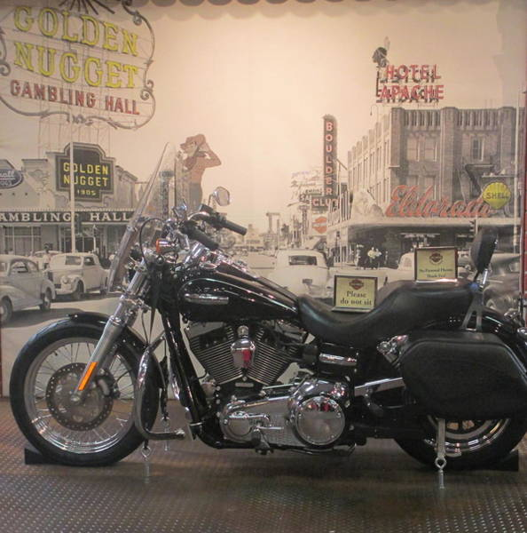 Wall Art - Photograph - Harley With Vintage Las Vegas by Kay Novy
