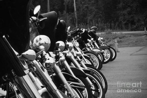Photograph - Harleys All In A Row by Jim Lepard