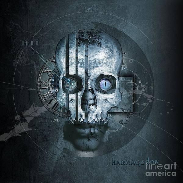 Wall Art - Digital Art - Harmagedon Blue-gray by Franziskus Pfleghart