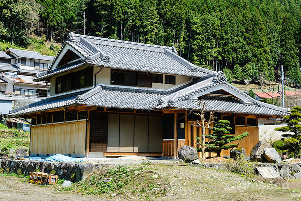 Photograph - Harmony Of Wood - Typical Japanese Country House In Forest Setting by David Hill