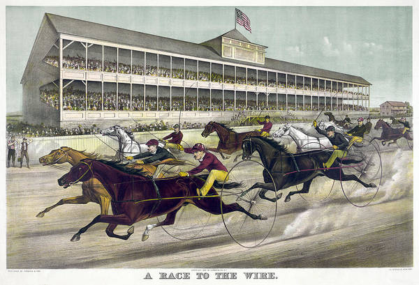 Wall Art - Painting - Harness Racing, C1891 by Granger