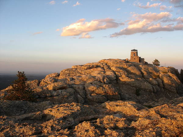 Harney Peak At Dusk Art Print