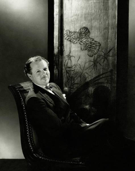 Authors Photograph - Harold Nicolson Sitting On A Chair by Edward Steichen