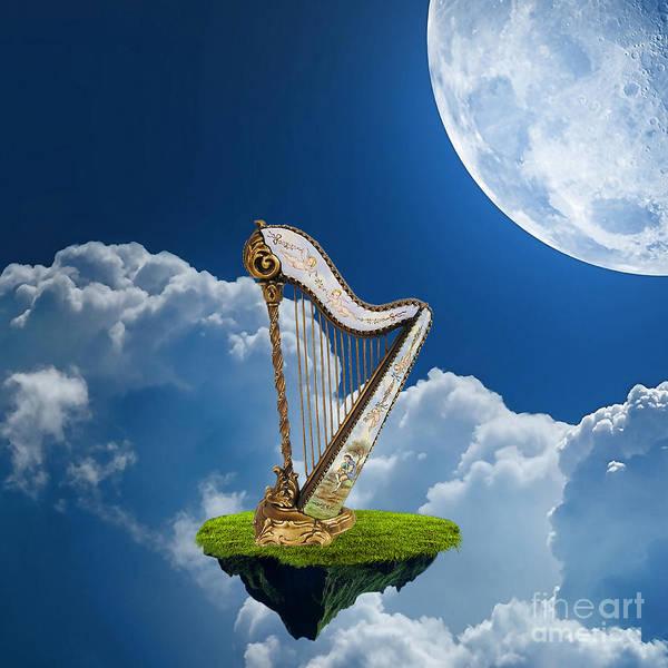 Harp Mixed Media - Harp by Marvin Blaine