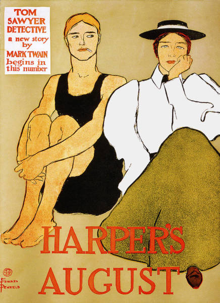 Harper Painting - Harpers August by Edward Penfield