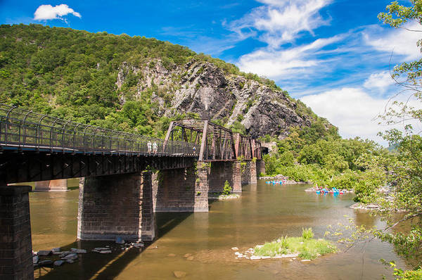 Photograph - Harper's Ferry Railroad Bridge And Tunnel by Guy Whiteley