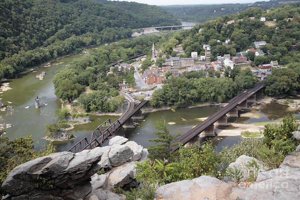 Maryland Wall Art - Photograph - Harpers Ferry Viewed From Maryland Heights by William Kuta