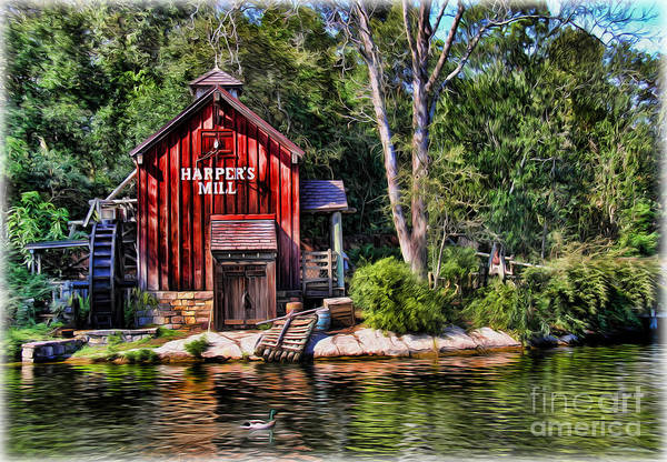 Textile Mill Photograph - Harper's Mill - Digital Painting  by Lee Dos Santos
