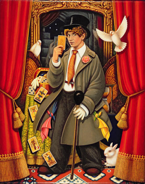Entertainer Photograph - Harpo, 2010 Oils & Tempera On Panel by Frances Broomfield