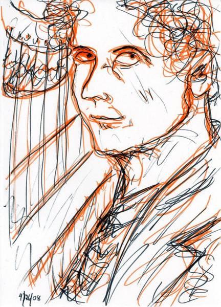 Drawing - Harpo Marx by Rachel Scott