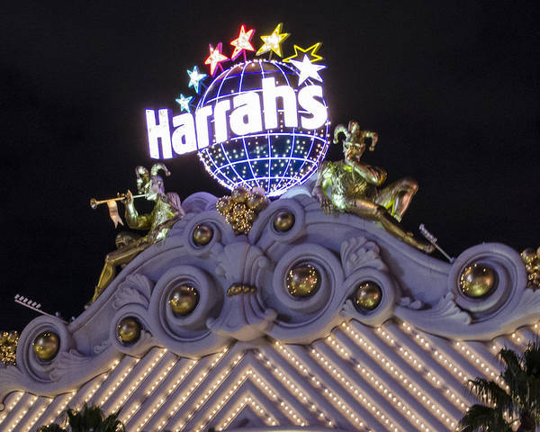 Harrahs Photograph - Harrahs Casino - Las Vegas by Jon Berghoff