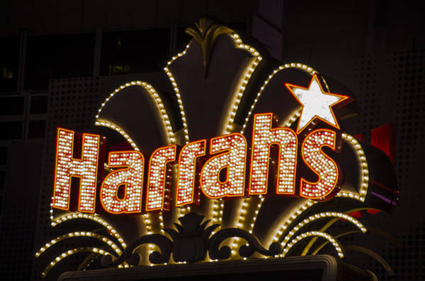 Harrahs Photograph - Harrahs - Las Vegas by Jon Berghoff