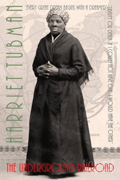 Photograph - Harriet Tubman The Underground Railroad 20140210v2 With Text Sepia by Wingsdomain Art and Photography