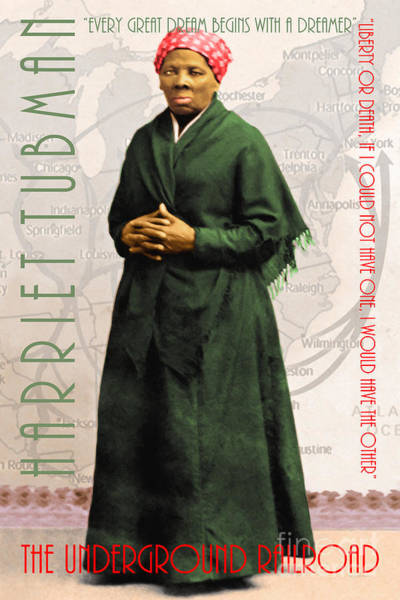 Photograph - Harriet Tubman The Underground Railroad 20140210v2 With Text by Wingsdomain Art and Photography