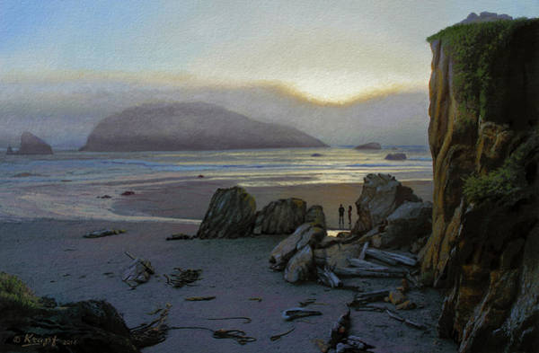 Oregon Coast Wall Art - Painting - Harris Beach Rendezvous by Paul Krapf