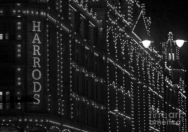 Photograph - Harrods Lights At Night by Clare Bambers