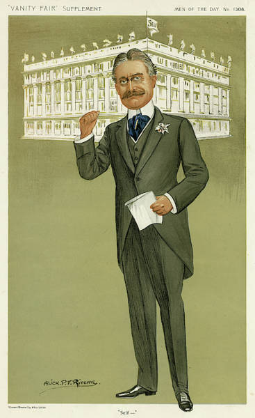 Developed Drawing - Harry Gordon Selfridge (1858 - 1947) by Mary Evans Picture Library