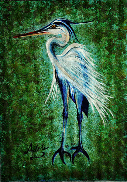 Adele Painting - Harry Heron by Adele Moscaritolo