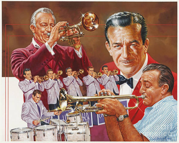 Wall Art - Painting - Harry James Trumpet Giant by Dick Bobnick